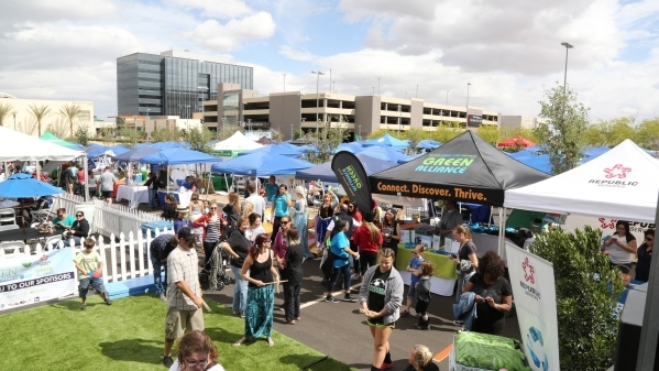 GREENFest, an annual Earth Day event showcasing Southern Nevada's sustainable community, set up shop April 25 at Downtown Summerlin. (Courtesy)