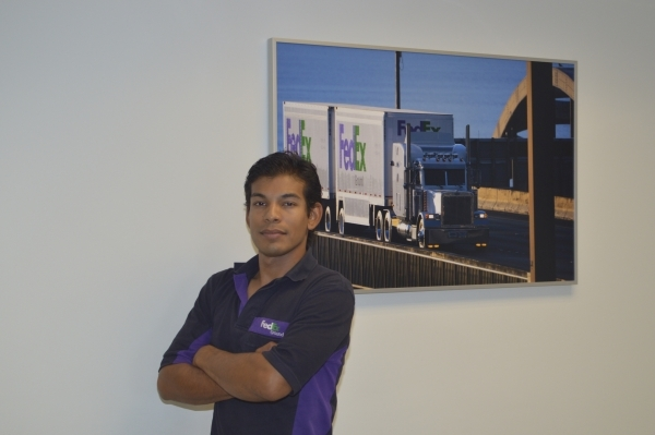Truck driver Jose Razo, a native of Guadalajara, Mexico, will be representing FedEx next month in the Super Bowl of Safety. (Photo by Stephanie Annis, special to the Las Vegas Business Press)