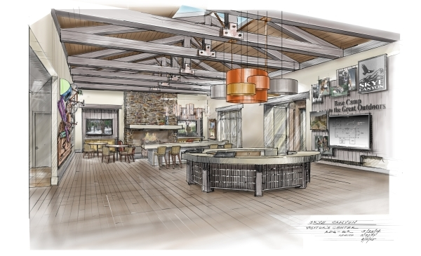 An artist's rendering shows the interior of a home at Skye Canyon. Courtesy of Olympia Cos.