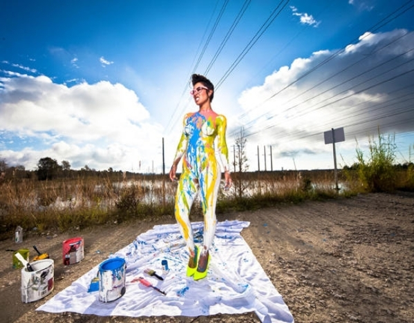 When artist Shannon Defreitas says she's deep in paint, she means it. Her firm, Deep in Paint, is collaborating in a line of home furnishing being shown at the Las Vegas Market. (Courtesy)