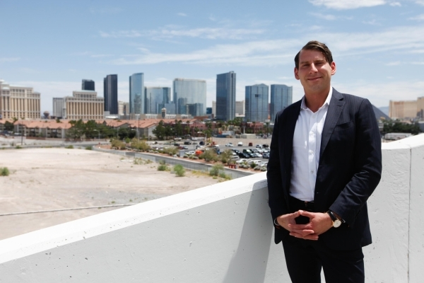 Cambridge Cos. Chief Operating Officer Filipp Chebotarev plans a hotel-casino and condo project on land on West Flamingo Road, just east of the Palms.  (JAMES TENSUAN/LAS VEGAS BUSINESS PRESS) Fol ...