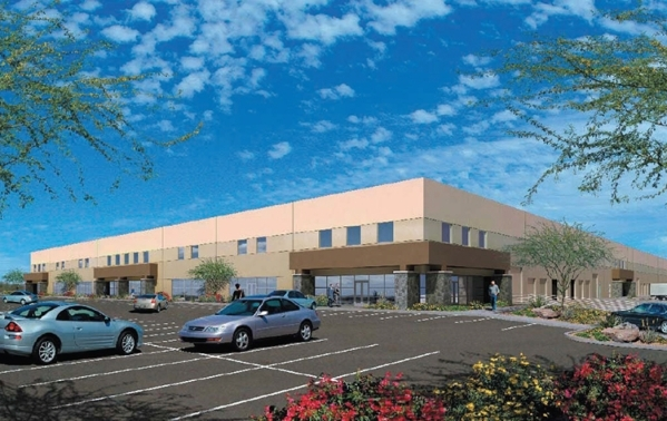 Trigg Laboratories Inc. and Steelhead Productions Inc. each signed a lease for industrial space in the Blue Diamond Business Center at 4220 W. Windmill Lane in Las Vegas.  (Courtesy, Colliers Inte ...