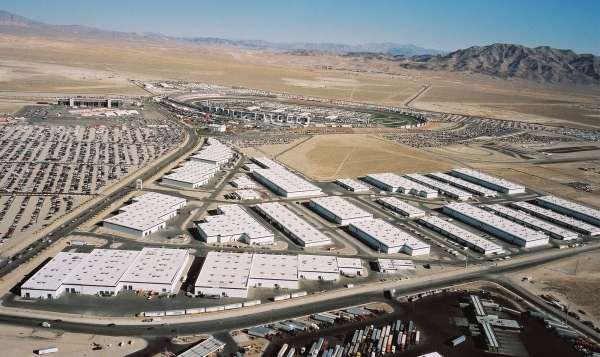 The Speedway Commerce Center in North Las Vegas is one local project jockeying for business in the hot logistics sector. (Courtesy Harsch Properties)