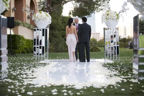 Weddings are big business in Nevada. Clark County recently raised marriage license fees to fund a marketing program promoting Las Vegas as a wedding destination. (Courtesy, Brit Bertino)