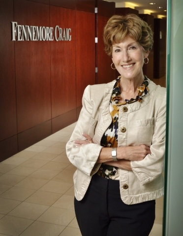 Attorney Lynn Fulstone is shown at the offices of Fennemore Craig at 300 S. Fourth St. in Las Vegas on Monday, Aug. 25, 2015. (Bill Hughes/Las Vegas Review-Journal)