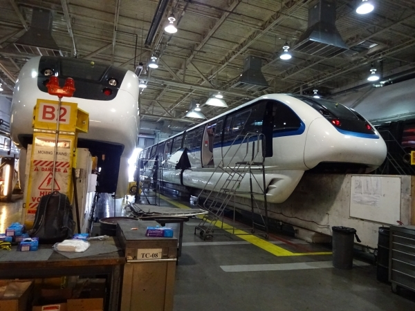 The maintenance teams regularly service the trains to make sure they are in smooth operating order. Malfunctioning parts are diagnosed at the facility and either repaired or sent back to the manuf ...