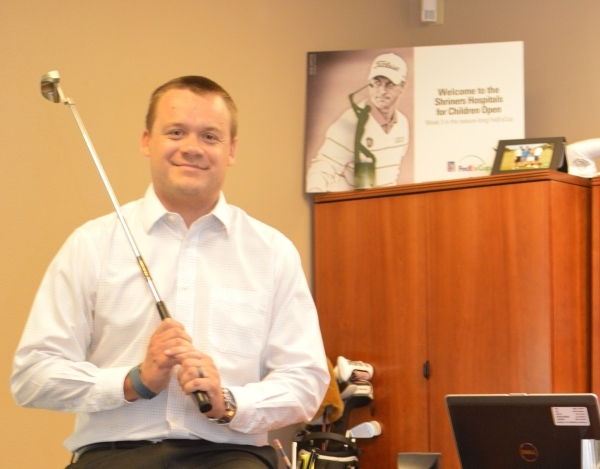 Patrick Lindsey, director of the Shriners Open, hopes to draw 50,000 fans to the event this year. Stephanie Annis/Special to the Las Vegas Business Press