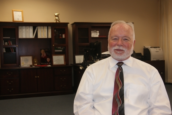 Dr. Joseph Iser, chief medical officer for Southern Nevada Health District, says regulating the sex trade could help fight sexually transmitted diseases. (Photo by Garrison Wells, special to the L ...