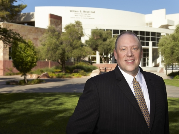 For Daniel Hamilton, dean of the William S. Boyd School of Law at UNLV, the LLM program in gaming law is a natural extension of the juris doctorate program. (Courtesy, UNLV)   Undated 2015