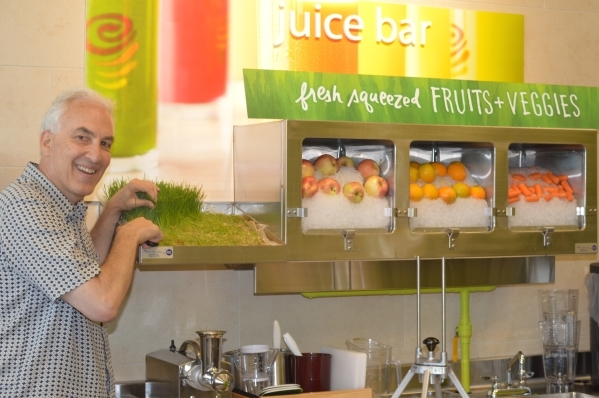 Philip Patent leads the Jamba Juice and Coffee Bean and Teaf Leaf lines for Jeffrey Fine's LEV restaurants. (Photo by Stephanie Annis, special to the Las Vegas Business Press)   August 2015