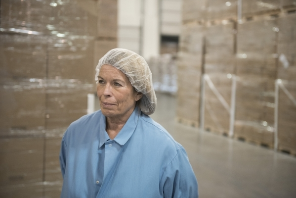 Margaret Garcia, founder and VP of sales and marketing, gives a tour of the RW Garcia plant at 4780 N. Lamb Blvd. in Las Vegas Wednesday Sept. 2, 2015. (Jason Ogulnik/Las Vegas Review-Journal)