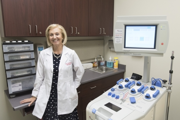 Dr. Beata Kwiatkowska poses in the Fresenius Medical Care office at 5751 S. Fort Apache Rd. Suite 110 in Las Vegas Friday, Sept. 11, 2015. Jason Ogulnik/Las Vegas Review-Journal