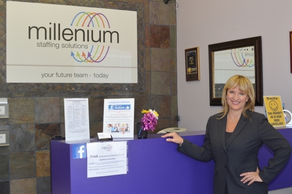 Jennifer DeHaven, president and CEO of Millennium Staffing, says salaries need to come up if Las Vegas is going to retain top  talent. (Stephanie Annis, special to the Las Vegas Business Press)  S ...