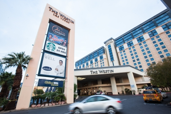 The exterior of The Westin hotel-casino is seen at 160 E. Flamingo Road in Las Vegas on Monday, Jan. 12, 2015. (Chase Stevens/Las Vegas Review-Journal)
