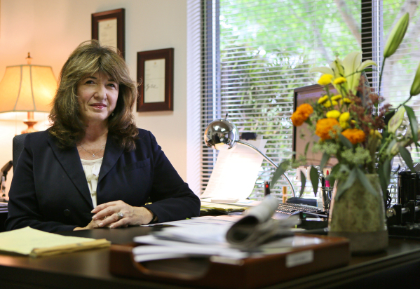 Attorney Deanna Forbush sits at her desk for a photo at Morris Polich & Purdy, LLP Tuesday, Sept. 22, 2015, in Las Vegas. Forbush, who has been practicing law for 24 years, is a partner and se ...