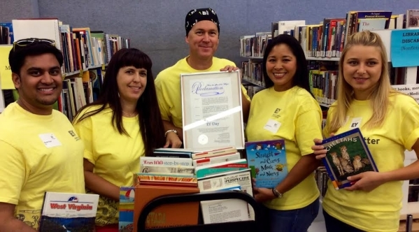 EY Connect Day activity in Las Vegas focused on assisting the Sahara West Library to raise funds by holding an EY book drive, donating new and used books to the library and assisting the library s ...
