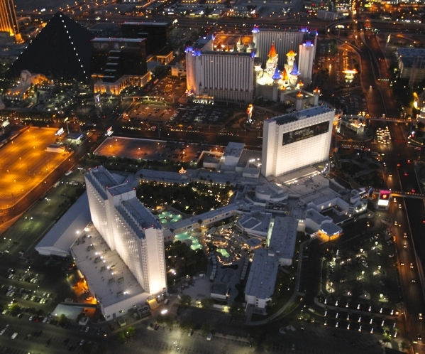 Exterior, aerial view of the Tropicana hotel-casino in Las Vegas, Friday, June 15, 2012. (Jeff Scheid/Las Vegas Review-Journal)
