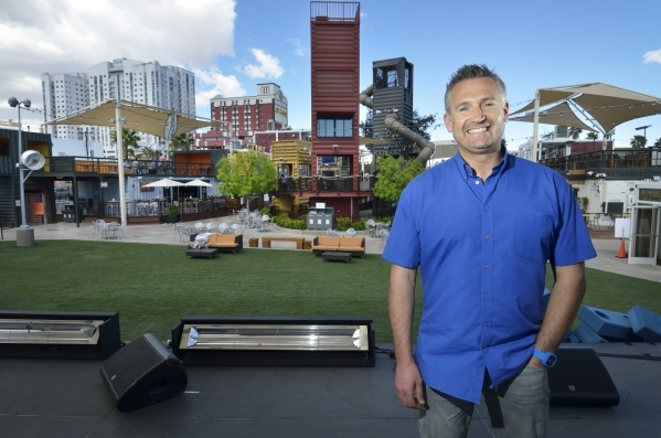 Mark Rowland, CEO of DTP Ventures, is shown at the Downtown Container Park at 707 Fremont St. in Las Vegas on Thursday, March 12, 2015. (Bill Hughes/Las Vegas Review-Journal)