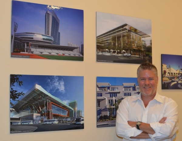 Architect Andrew Simmons is back as director of the hospitality studio at Nadel. (Stephanie Annis, special to the Las Vegas Business Press)  October, 2015