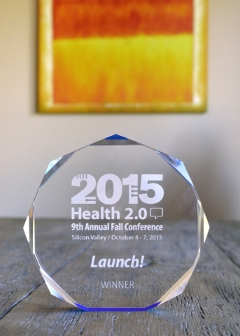 An award won by Dr. Samir Qamar, CEO of MedLion Direct Primary Care, is shown at his office at 851 S. Rampart Blvd. in Las Vegas on Tuesday, Oct. 13, 2015. Qamar won the award for his development  ...