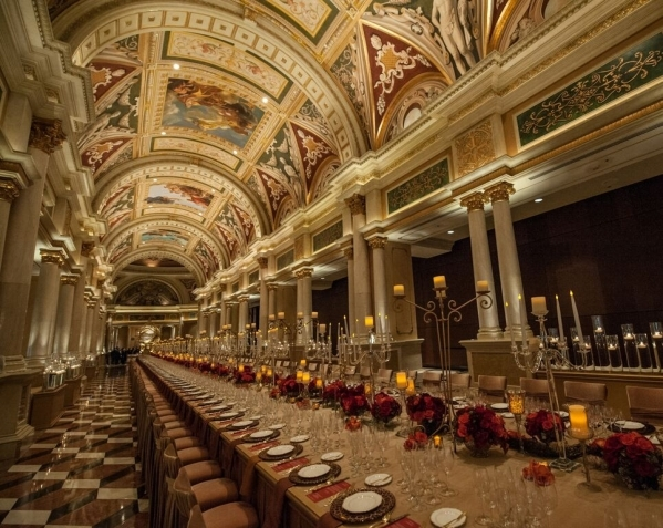 The grand banquet table at The Venetian Grand Colonnade will host the Ultimo celebration. (Courtesy)