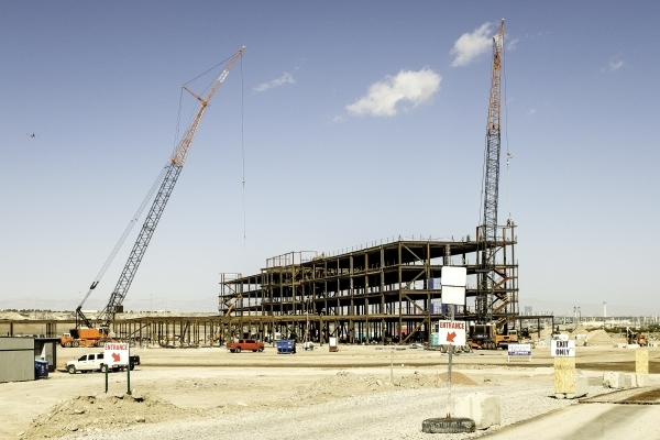Construction continued on the hospital at Union Village in Henderson. Ulf Buchholz/Las Vegas Business Press