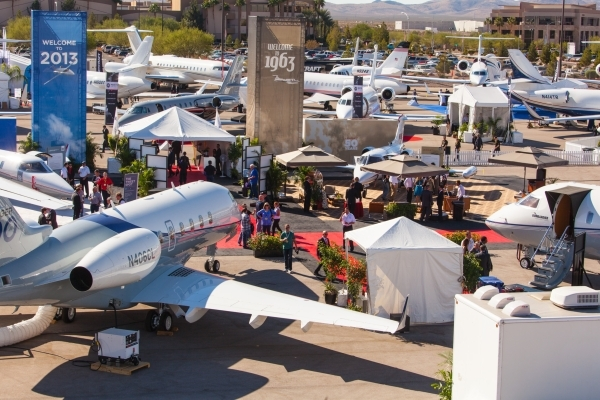 The Henderson Executive Airport became an extension of the convention floor when the National Business Aviation Association came to Las Vegas in 2013. (Courtesy NBAA)