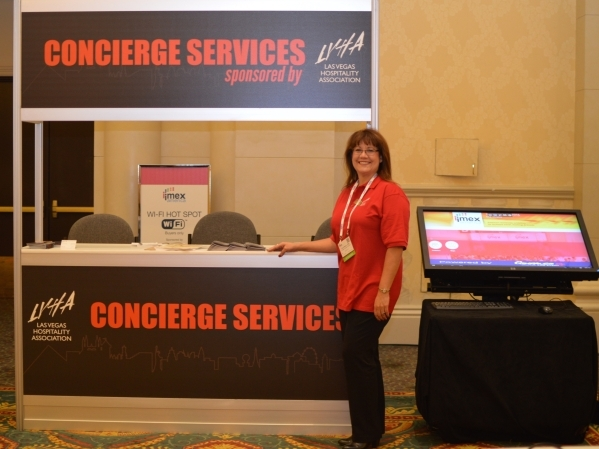Concierge services are one of the ways the Las Vegas Hospitality Association helps the convention industry, says Cyndi Martin, the group's president. (Stephanie Annis, special to the Las Veg ...