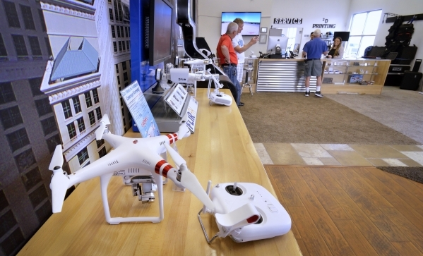 Part of the interior of Drones Plus is shown at 5010 S. Decatur Blvd. in Las Vegas on Wednesday, Oct. 21, 2015. Bill Hughes/Las Vegas Review-Journal