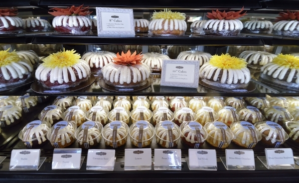 A selection of cakes is shown at Nothing Bundt Cakes at 8320 W. Sahara Ave. in Las Vegas on Friday, Oct. 23, 2015. Bill Hughes/Las Vegas Review-Journal