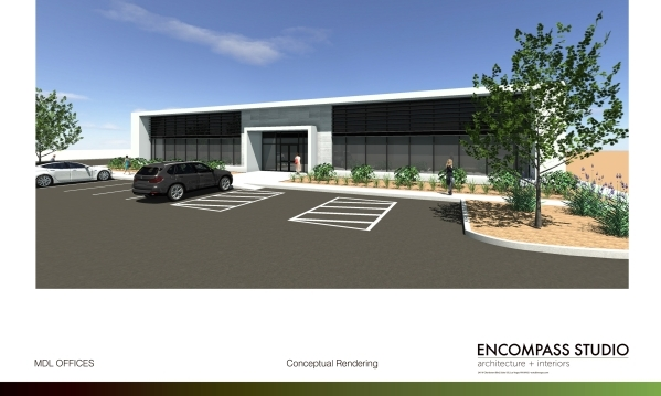 An artist's rendering shows the planned office of MDL Group. MDL GROUP COURTESY PHOTO