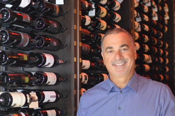 Gino Ferraro's wine celler is one of the popular features of Ferraro's, which marks 30 years in business on Nov. 6.  (Stephanie Annis, special to the Las Vegas Business Press)  October ...
