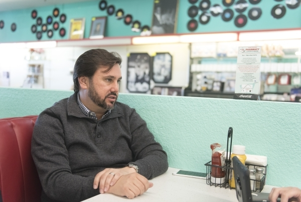 J. Dapper is interviewed at Huntridge Pharmacy & Soda Fountain in Las Vegas Friday, Nov. 6, 2015. Jason Ogulnik/Las Vegas Review-Journal