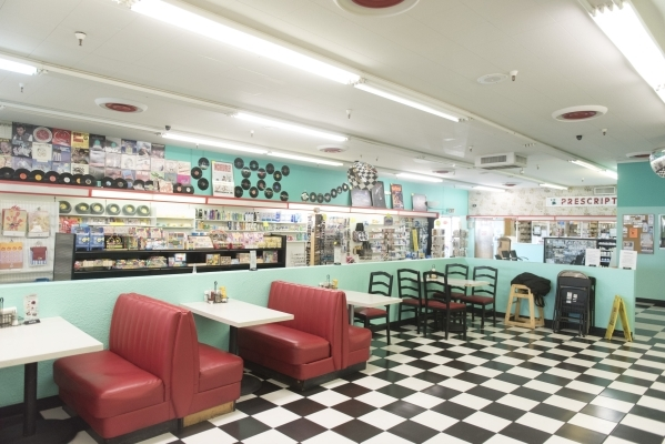 The dining area in Huntridge Pharmacy & Soda Fountain at 1144 E. Charleston Blvd. in Las Vegas is seen Friday, Nov. 6, 2015. Jason Ogulnik/Las Vegas Review-Journal
