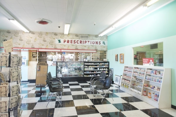 The pharmacy area in Huntridge Pharmacy & Soda Fountain at 1144 E. Charleston Blvd. in Las Vegas is seen Friday, Nov. 6, 2015. Jason Ogulnik/Las Vegas Review-Journal