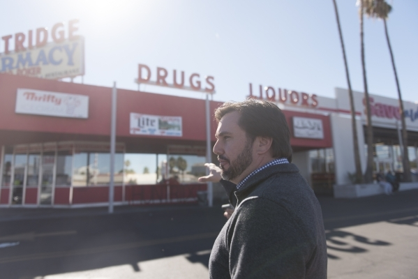 J. Dapper gives a tour of property acquired by his business, Dapper Companies, located on the southwest corner of the intersection of Charleston Boulevard and Maryland Parkway in Las Vegas Friday, ...