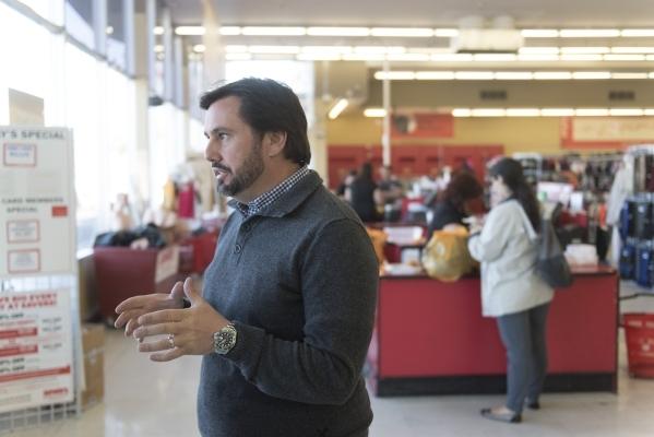 J. Dapper gives a tour of Savers Thrift Store at 1100 E. Charleston Blvd. in Las Vegas Friday, Nov. 6, 2015. Jason Ogulnik/Las Vegas Review-Journal