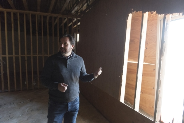 J. Dapper gives a tour of property acquired by his business, Dapper Companies, located on the southwest corner of the intersection of Maryland Parkway and Bonneville Avenue in Las Vegas Friday, No ...