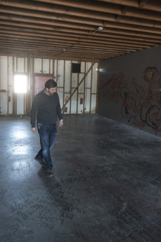 J. Dapper gives a tour of property acquired by his business, Dapper Companies, located on the southwest corner of the intersection of Maryland Parkway and Bonneville Avenue in Las Vegas is seen Fr ...