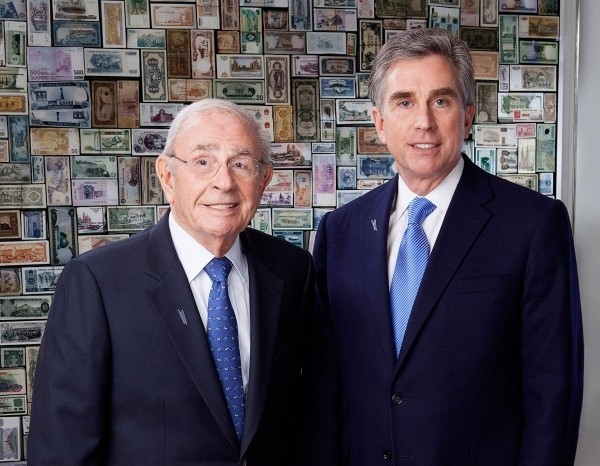 Bram Goldsmith, left, and his son Russel have led City National for 40 years.(Courtesy City National Corp.)