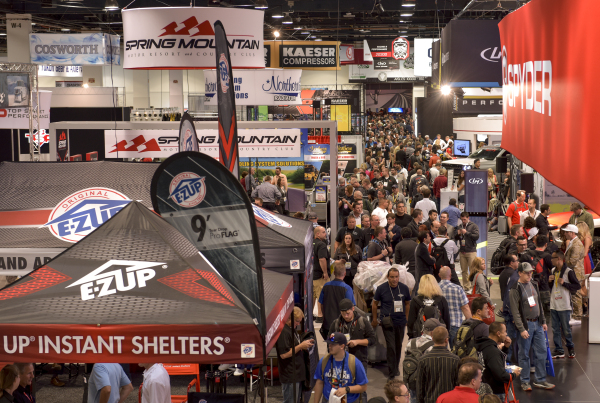Attendees crowd the walkways for the 2015 Specialty Equipment Market Association (SEMA) Show at the Las Vegas Convention Center on Wednesday, Nov. 4, 2015. CREDIT: Mark Damon/Las Vegas News Bureau
