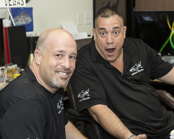 Brothers in law and partners Wayde King, right, and Brett Raymer are the personalities behind the success of the TV show Tanked and their Las Vegas business. (Business Press file photo)