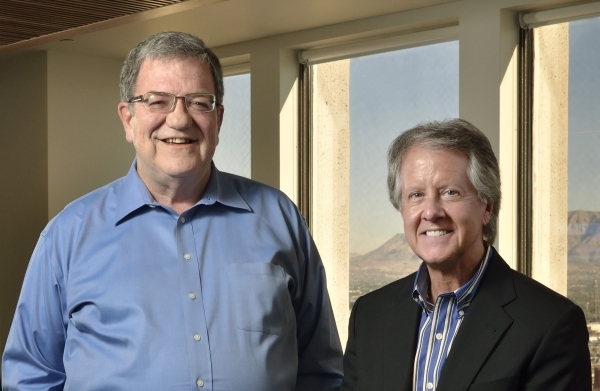 Gary Lambrix, left, and William Wells, partners at RMS US, are shown at the firmþÄôs offices at 300 S. 4th St. in Las Vegas on Friday, Nov. 20, 2015. Bill Hughes/Las Vegas Review-Journal