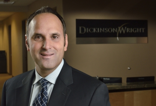 Attorney Matthew Policastro is shown at Dickinson Wright at 8363 Sunset Road in Las Vegas on Wednesday, Dec. 2, 2015. Bill Hughes/Las Vegas Review-Journal