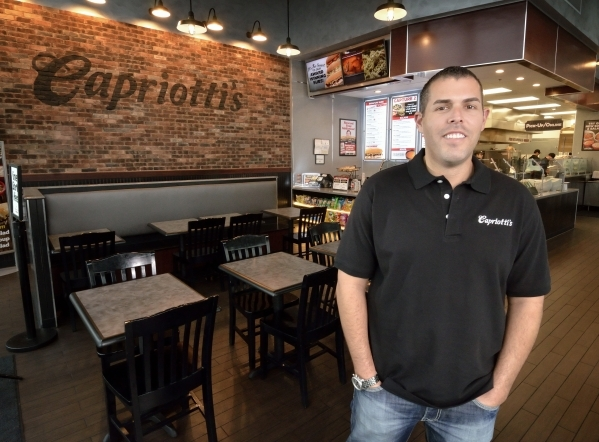Capriotti´s CEO Ashley Morris poses at the Downtown Summerlin location at 11010 Lavender Hill Drive in Las Vegas on Tuesday, Jan. 5, 2016. Bill Hughes/Las Vegas Review-Journal