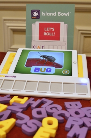 The Square Panda phonics play-set is shown with an iPad during a product launch press conference at the Bellagio hotel-casino at in Las Vegas on Monday, Jan. 4, 2016. Bill Hughes/Las Vegas Review- ...
