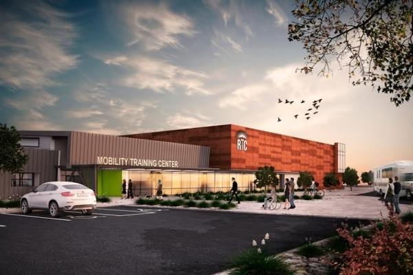 An artist's rendering shows the new RTC Mobility Center. (Courtesy RTC)  December 2015