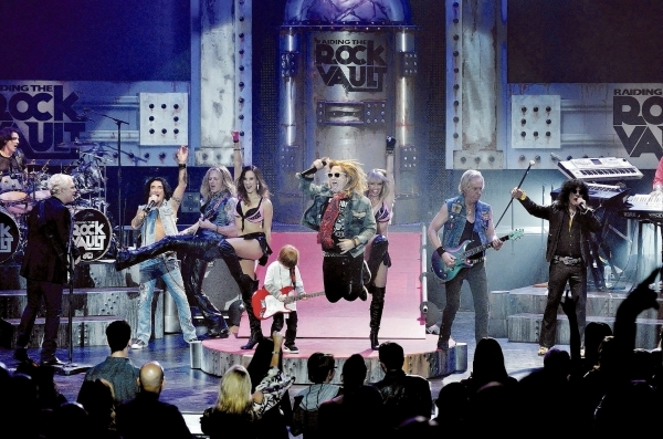 "Cast members perform during ""Raiding the Rock Vault"" in the showroom at the Tropicana hotel-casino at 3801 Las Vegas Blvd., South, in Las Vegas on Saturday, Nov. 8, 2014. (Bill Hughes/La ..."