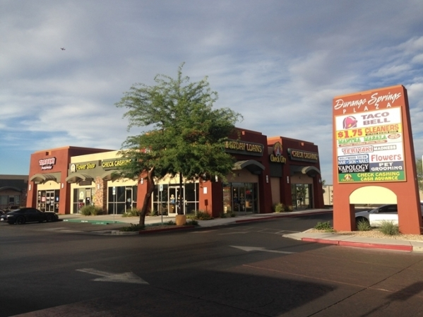 The Durango Springs Plaza at 8520-8550 W. Warm Springs Road in Las Vegas was sold for $8.3 million to the AW Family Trust. Courtesy.
