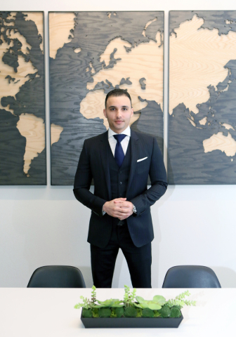 Kamran Zand, owner and broker at Luxury Estates International, stands for a photo in a conference room at Luxury Estates International Thursday, Feb. 4, 2016, in Las Vegas. The real estate brokera ...